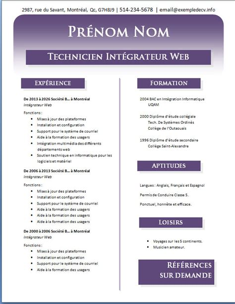 Cv Exemple Word by Cv Professionnel Gratuit Format Word Px54 Jornalagora