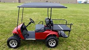 Turn Signals  Brake Lights  Flashers  Electric Horn  Lifted Candy Apple Red Metallic Ezgo Golf