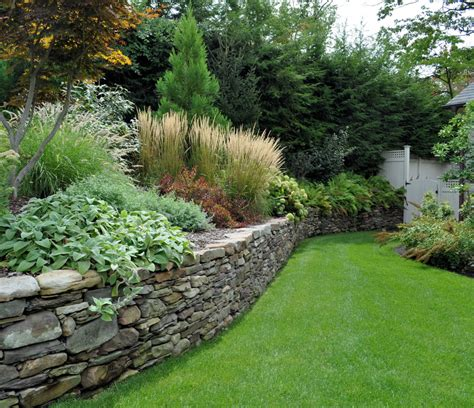 retaining wall gardens dry laid pennsylvania field stone wall tenafly elegant landscape pinterest stone walls