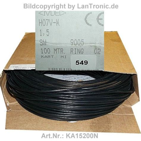 h07v k 1 5mm2 kabel litze h07v k 1 5mm2 schwarz rolle 100m lantronic et