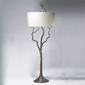 tall tree and humming bird floor lamp in bronze With tall tree floor lamp