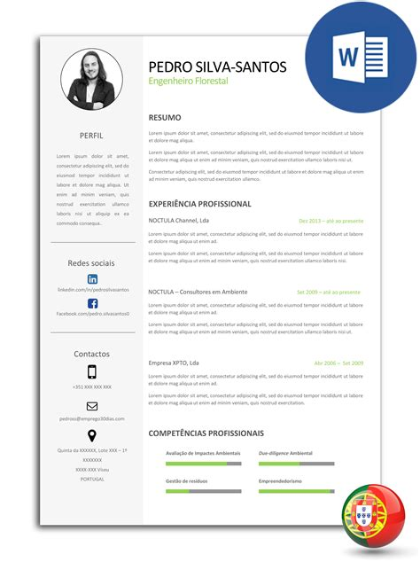 Curriculum Template Word by Modelo De Curr 237 Culo Edit 225 Vel Em Word Cv