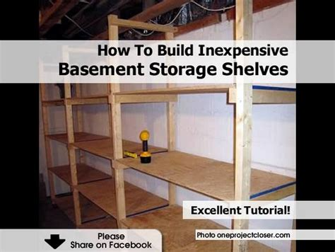 build inexpensive basement storage shelves