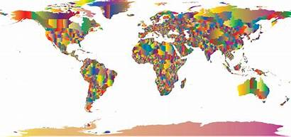 Map Colorful Clipart