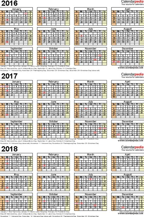 year calendar  printable  templates