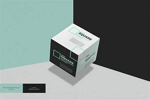 Square Box Packaging PSD MockUp - Age Themes