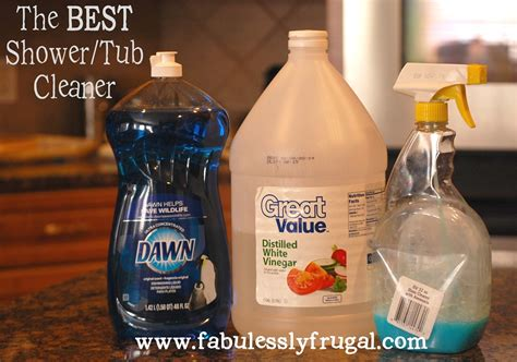 vinegar and shower diy tub shower cleaner picture tutorial fabulessly frugal