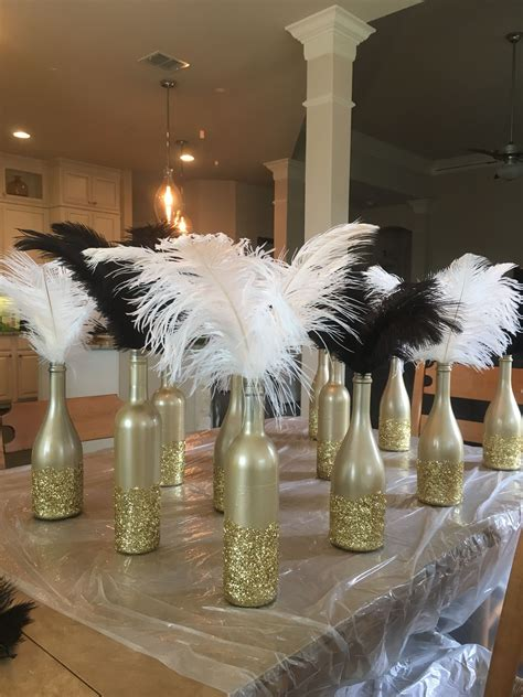 art deco gatsby party roaring  centerpieces diy