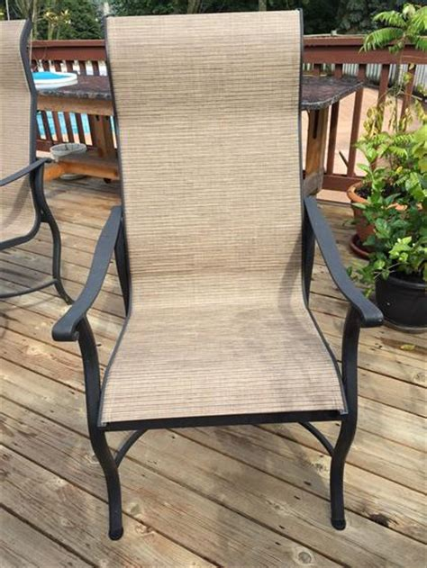 replacement slings for patio sling style furniture grandle patio chair sling replacements in michigan