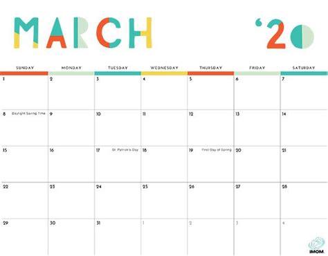colorful printable calendar  moms calendar