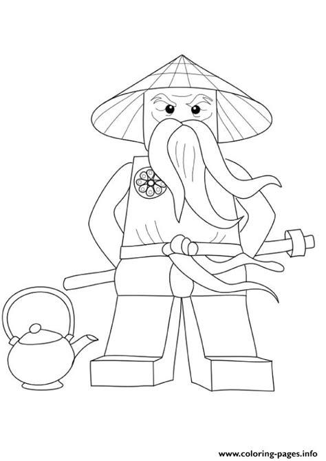 Kleurplaat Ninjago Sensei by Ninjago Sensei Wu Coloring Pages Printable