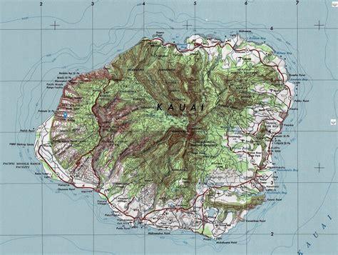 kauai topographic maps kauai surf company