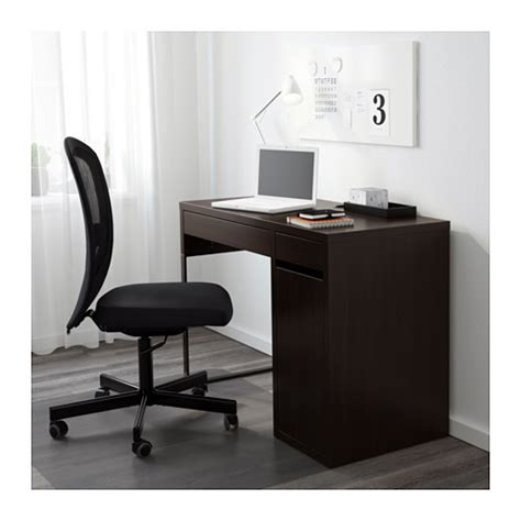 bureau laptop micke desk black brown 105x50 cm ikea