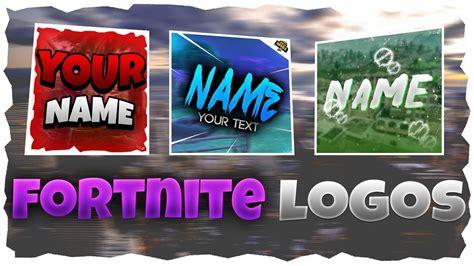 fortnite logo templates youtube