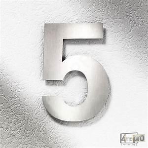 Plaque Numero Maison Design : plaque num ro de maison 25 cm inox bross 4mepro ~ Melissatoandfro.com Idées de Décoration