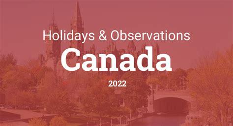 holidays  observances  canada