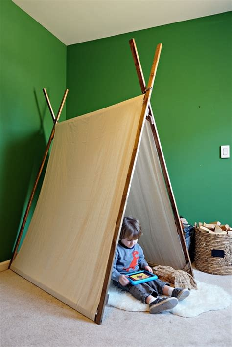 diy  sew canvas play tent abes national parks room
