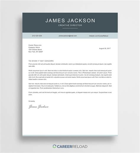 Cover Letter Template by Free Photoshop Cover Letter Templates Free