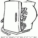 Coloring Pages Refrigerator sketch template