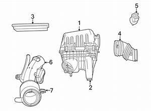 Volkswagen Routan Air Filter  3 8 Liter  4 0 Liter  Routan  Engine  Intake - 7b0129620