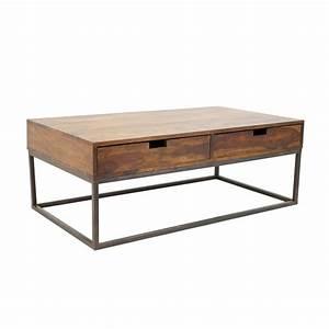 Table Basse Loft : table basse en fer forg et palissandre tendance loft ~ Teatrodelosmanantiales.com Idées de Décoration