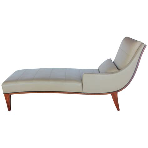 chaise luge modern leather chaise lounge by widdicomb for sale at 1stdibs