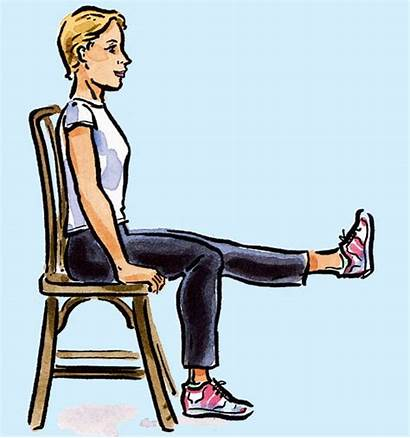 Chair Exercises Exercise Leg Workout Fitness Extension