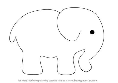 learn   draw  elephant  kids zoo animals step