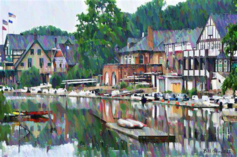 Boathouse Row In Philadelphia Photograph By Bill Cannon