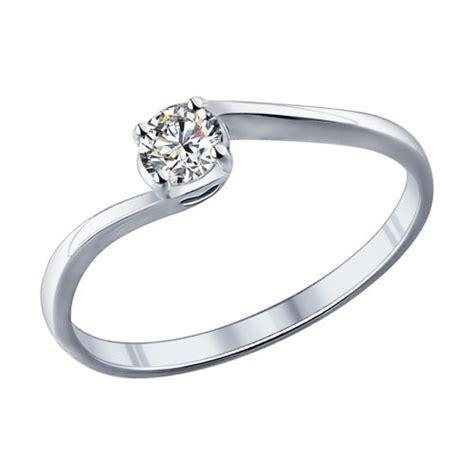 Позолоченное помолвочное кольцо с фианитом арт. 93010416..