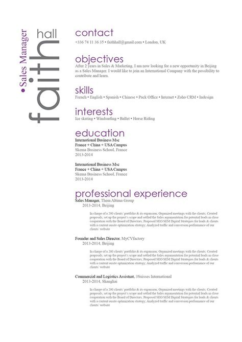 Attractive Cv Templates by Great Resume Attractive Resume 183 Mycvfactory
