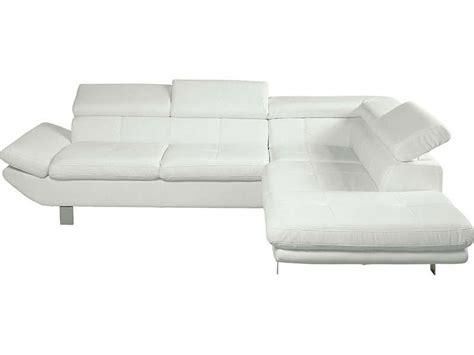 canapé cotta canapé d 39 angle fixe droit 5 places loft coloris blanc en