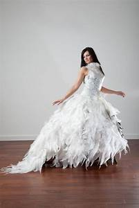 gown made of hundreds of plastic garbage bags by susanne With wedding dresses fargo