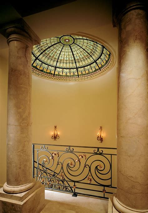 hand crafted stained glass ceiling dome   top