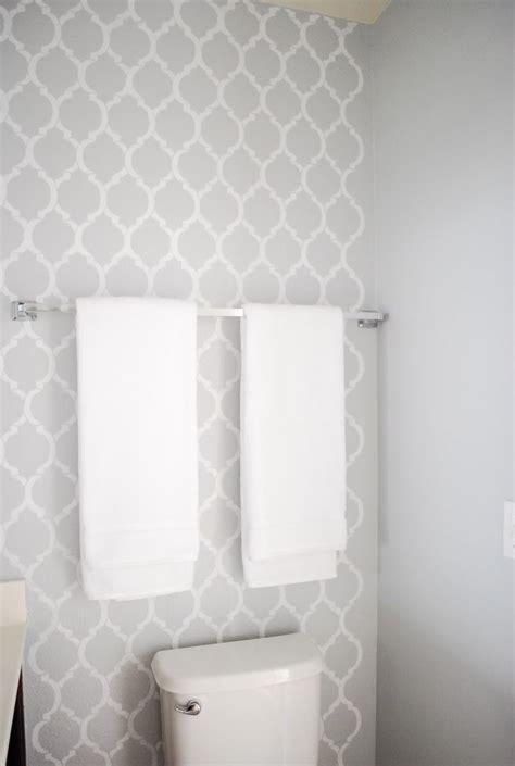 diy bathroom makeover bathroom wallpaper grey toilet