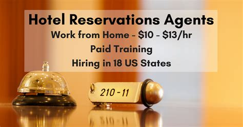 Work From Home Reservations Agents
