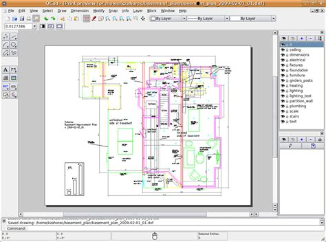 librecad creating  detailed design drawing
