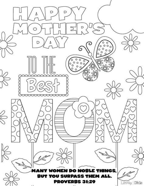 mother s day coloring pages printables and they re free