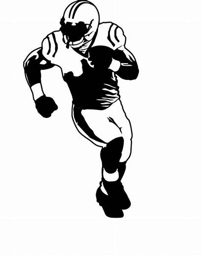 Football Player Silhouette American Clipart Clip Drawing