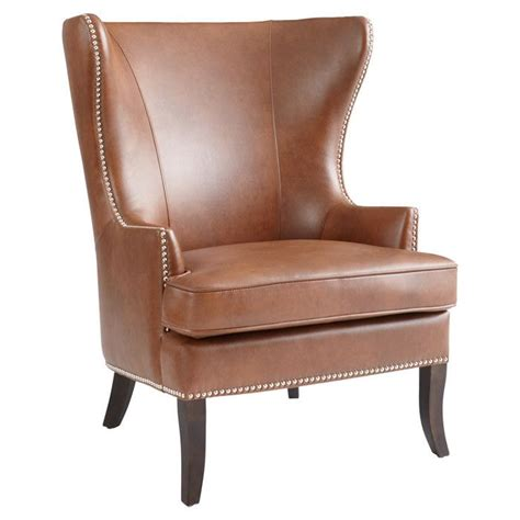 leather wingback chair chaises canap 233 s fauteuils