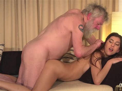 White Hair Old Man Fucks Teen Pussy So Tight And Young