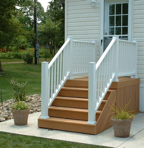 Installing Trex Decking On Stairs by Composite Deck Composite Deck Stairs