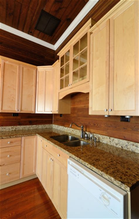 wood backsplash   great alternative