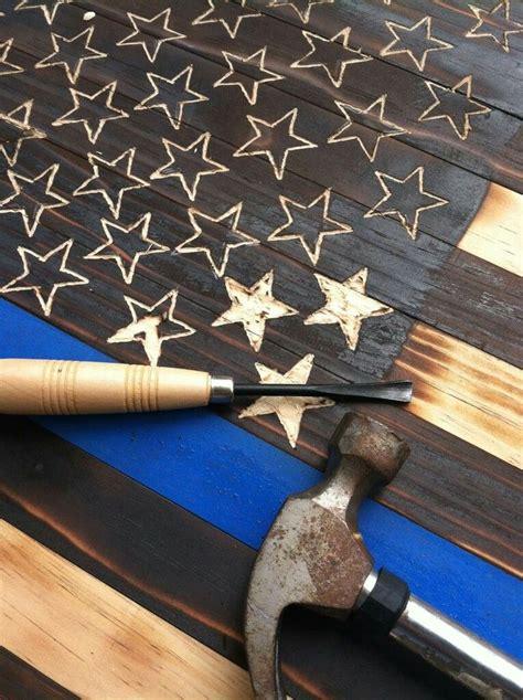 Wooden American Flag Coin Holder Plans