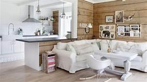 Salon scandinave blanc bois par marthe holien bo for Idee deco cuisine avec lit inspiration scandinave
