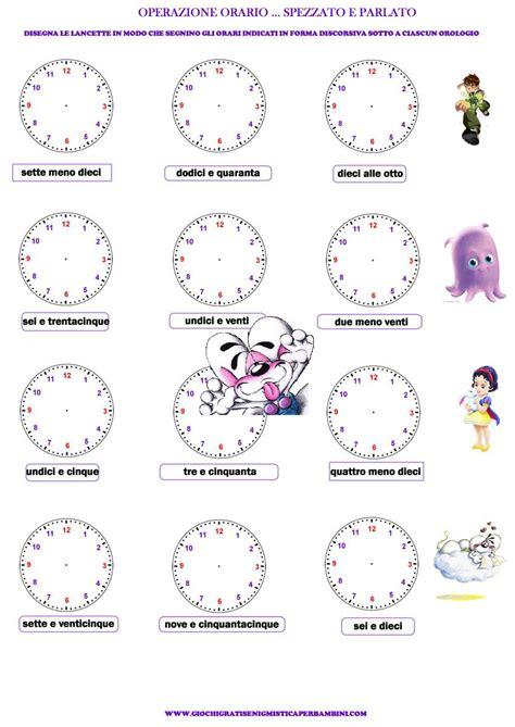 schede didattiche per imparare a leggere l ora orologio pinterest school