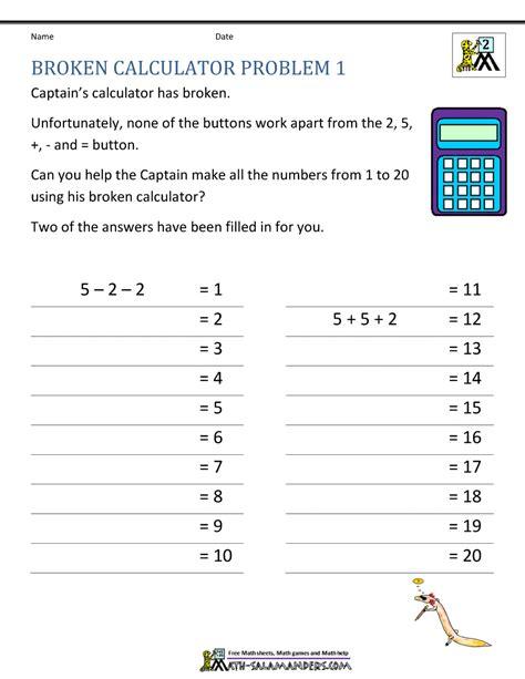 magnificent math problem calculator ideas worksheet