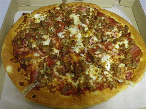 pizza hut meat lovers pizza  ordered