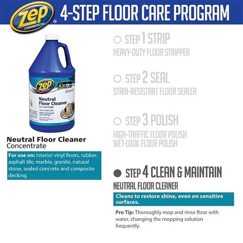 Zep Neutral Floor Cleaner by Zep 128 Oz Neutral Floor Cleaner Of 4 Zuneut128