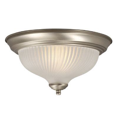 hton bay ceiling fixture with frosted glass the home